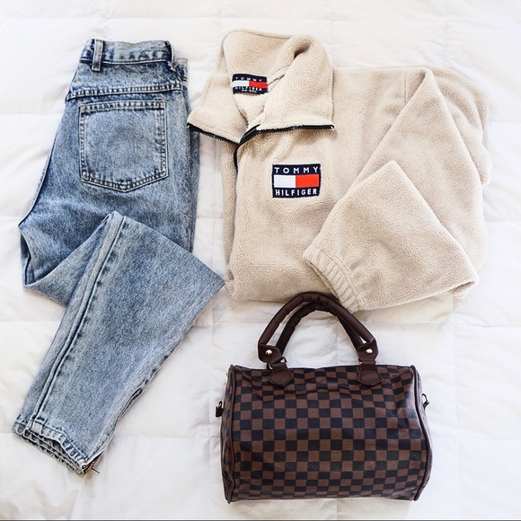 0dd055bc5 Fuzzy Tommy Hilfiger Quarter-Zip Sweatshirt. M_5b8d99da81bbc81624491fe5